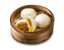 Steamed Buns with Preserved Egg Yolk Paste
