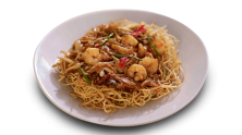 Crispy Yellow Noodles with Seafood